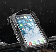 economico -/ Marsupio triangolare da telaio bici Ompermeabile Portatile Duraturo Borsa da bici PU Marsupio da bici Borsa da bici Attività all'aperto Bicicletta