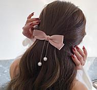 economico -coreano signore fatto a mano bowknot catena di perle ciondolo tornante tornante clip laterale top clip accessori per capelli gioielli testa