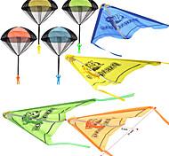 economico -8 pack 2 in 1 aliante e paracadute set di giocattoli con figure, groviglio da lancio a mano libera giocattoli volanti per bambini che giocano all'aperto
