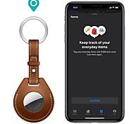 economico -custodia protettiva in pelle pu per apple airtag tracker location anti-perso anti-graffio protector cover per iphone airtags key finder portachiavi accessori