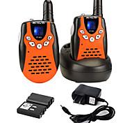 economico -Walkie talkie ricaricabili rt-602 con cavo di ricarica, walkie talkie vox a 22 canali per bambini, giocattoli da 3 a 12 anni per avventure all'aria aperta, campeggio (arancione, 1 paio)