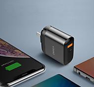 economico -18 W Potenza di uscita USB Caricatore PD Caricabatterie portatile Portatile Multiuscita Ricarica veloce Zero Per Cellulari