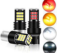 abordables -2 pièces lampe de signalisation P21W LED BA15S 1156 T20 7440 W21W W21 / 5W Ampoule 3030smd Canbus 1157 LED Bay15d P21 / 5W Tournez la lumière de recul 12V
