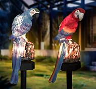 economico -luci solari esterne ha condotto le luci esterne luce del giardino alimentata solare esterno ip65 impermeabile pappagallo ha condotto la lampada da prato chiara fiabesca decorazione del giardino