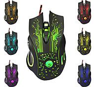 economico -mouse da gioco con cavo usb 5500 dpi regolabile 6 pulsanti retroilluminati a led mouse da gioco professionali mouse ergonomico per computer per pc laptop