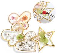 economico -tavolozza dei colori della conchiglia di cristallo a forma di farfalla tavolozza dei colori delle unghie in resina di phnom penh può essere utilizzata per la visualizzazione di nail art strumenti per