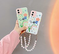 economico -telefono Custodia Per Apple Per retro iPhone 12 Pro Max 11 SE 2020 X XR XS Max 8 7 Portatile Resistente agli urti A prova di sporco Fiore decorativo TPU