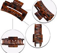 abordables -Cross-border vente chaude motif léopard carré clip creux femme plaque géométrique cheveux queue de cheval pince de bain vente directe d'usine