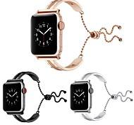 economico -Cinturino intelligente per Apple  iWatch 1 pcs Chiusura classica Acciaio inossidabile Sostituzione Custodia con cinturino a strappo per Apple Watch Serie SE / 6/5/4/3/2/1