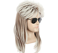 economico -parrucca lunga stile rock star anni '70 anni '80 parrucca cosplay di halloween senza occhiali