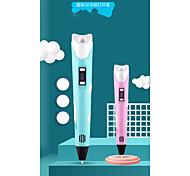 abordables -Jeu de Dessin Stylo d'impression 3D Articles de fête Créatif Carcasse de plastique Peinture Sortie de charge USB Basse température Jouets éducatifs Enfant Adulte Femme Garçons et filles pour des