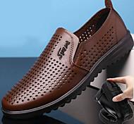 economico -mocassini casual da uomo scarpe comode e traspiranti da guida scarpe in pelle da guida in pelle color caffè nero primavera estate