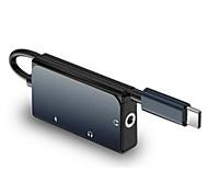 abordables -WiWU Haut débit Fonction de livraison de puissance de support LT02Pro USB 3.0 de USB C à USB 3.0 de USB C Audio 3,5 mm Concentrateur USB 3 Les ports Pour Windows, PC, ordinateur portable