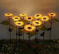 economico -luce solare esterna 2 pezzi luce solare stile girasole led prato per giardino esterno cortile giardino esterno potenti lampade solari girasole luce notturna night