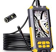 abordables -Caméra d'endoscope à double objectif P50 1080P HD 4.5 écran IPS 9 lumières LED IP68 étanche caméra serpent égout outils de plomberie dur 2 m