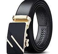 economico -Per uomo Larga Ufficio / Business Da tutti i giorni Come mostrato nell'immagine Similpelle Cintura Tinta unica