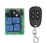 economico -433 mhz dc 12 v universale wireless rf telecomando interruttore modulo ricevitore radio relè 4ch e trasmettitori telecomandi intelligenti