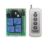 economico -dc 12v 4ch telecomando senza fili interruttore 1 ricevitore 1 trasmettitori 433 mhz/10a relè ricevitore/
