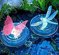 economico -luci solari per esterni lampada galleggiante a led rgb che cambia colore a forma di farfalla a forma di libellula giardino esterno fontana per piscina luce dell'acqua della piscina ip68 impermeabile