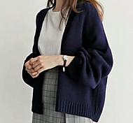 economico -classico commercio estero coreano chic stile pigro maglione femminile sciolto studente colore puro semplice maglione a maglia corta cardigan donna