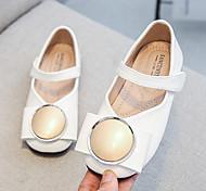 economico -scarpe in pelle per ragazze 2020 primavera e autunno nuove bambine piatte scarpe singole carine coreano fibbia tonda scarpe da principessa in velcro tendenza