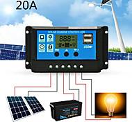 economico -regolatore di carica solare con lcd e regolatore di uscita automatico 20a 12v 24v regolatore di carica solare display lcd dual usb