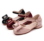 economico -scarpe kids2020 autunno nuove ragazze scarpe in pelle moda fibbia arco fiocco principessa scarpe produttori fornitura