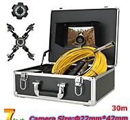economico -f927-20m/30m/40m/50m endoscopio industriale fotocamera digitale periscopio 3 mp portatile led luce palmare ip68 impermeabile pipeline 20m