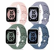 economico -Cinturino intelligente per Apple  iWatch 4PCS Cinturino sportivo Chiusura moderna Silicone Sostituzione Custodia con cinturino a strappo per Apple Watch Serie SE / 6/5/4/3/2/1