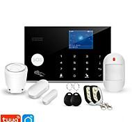 economico -awaywar tuya 433mhz wireless wifi gsm rfid security alarm system kit app remote control burglar smart home pir door detector