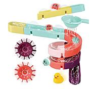 economico -set di assemblaggio di giocattoli da bagno per bambini - 24 pezzi fai da te di aspirazione a parete con scivolo ad acqua giocattoli da vasca per bambini e bambine 3-6 anni