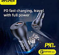 economico -AWEI 30 W Potenza di uscita USB Caricatore PD Presa per caricabatteria USB per auto Caricabatterie portatile Per iPad Cellulari