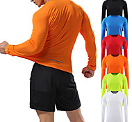 economico -t-shirt da uomo con protezione solare upf 50+ uv bianca maglietta da sole a maniche lunghe performance maglietta ad asciugatura rapida (pure white m)