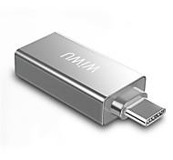 economico -WiWU Alta velocità T02 USB 3.0 USB C a USB 2.0 USB 3.0 Hub USB 2 Porti Per Windows, PC, laptop