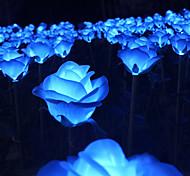 economico -luci di fiori di rosa solare luci esterne 1pc 1 w luci di prato ha condotto le luci solari solari alimentate decorative rosso giallo rosa 3.7 v illuminazione esterna cortile giardino 5 led perline