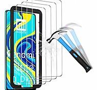 economico -telefono Proteggi Schermo Per XIAOMI Mi 11 Redmi Note 9T Poco X3 NFC Mi 10 Mi 10 Pro Vetro temperato 4 pezzi Alta definizione (HD) Ultra sottile Anti-graffi Proteggi-schermo frontale Appendini per
