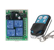 economico -rf wireless 433mhz dc 12v 4ch wireless rf interruttore di telecomando sistema di sicurezza porte del garage cancello serratura elettronica chiave 4 pulsanti trasmettitore