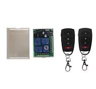 economico -433mhz telecomando senza fili universale dc 12v 4ch modulo ricevitore relè interruttore rf 4 pulsante telecomando cancello garage apri