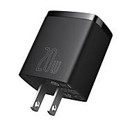 economico -BASEUS 20 W Potenza di uscita USB USB C Caricatore veloce Caricatore del telefono Caricabatterie portatile Multiuscita Normale Ricarica veloce Per Cellulari