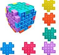 economico -6 pezzi popsits cubo puzzle giocattolo bambini adulti anti stress antistress controller scheda fidget educativi giocattoli regali poppit