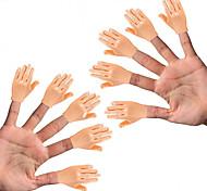 economico -piccoli burattini da dito (confezione da 10 – 5 rimasti)& 5 mani destre) – mignolo per le mani – mini burattino a mano piatto stile mano – accessori per puntello a mano – mini burattino a