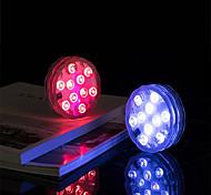 economico -lampada subacquea per esterni smd5050 luci a led sommergibili ip68 10 led rgb lampada da pesca subacquea aaa a batteria con telecomando wireless multi colore per la piscina vaso acquario decor