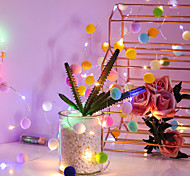 economico -led stringa di luce 2m 20leds filo di rame fata stringa luce palla di cotone luci lanterne a batteria matrimonio festa di compleanno ragazze decorazione della stanza