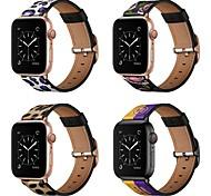 economico -Cinturino intelligente per Apple  iWatch 1 pcs Bracciale stampato Vera pelle Sostituzione Custodia con cinturino a strappo per Apple Watch Serie SE / 6/5/4/3/2/1
