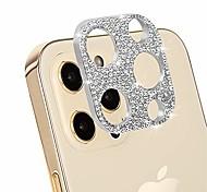 """economico -protezione dell'obiettivo della fotocamera compatibile con iphone 12 pro [6.1""""], protezione della fotocamera posteriore con decorazione sxufo bling progettata per iphone 12 pro - argento"""