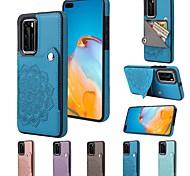 economico -telefono Custodia Per Huawei Per retro P40 P40 Pro P30 P30 Pro P30 Lite Huawei Mate 20 lite Huawei Mate 20 pro Huawei Mate 20 P40 lite Compagno 30 Porta-carte di credito Resistente agli urti A prova