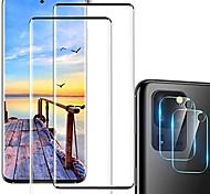 economico -vetro temperato protezione dello schermo galaxy s20 ultra, protezione dell'obiettivo della fotocamera [sensibile al tocco][supporto delle impronte digitali][indurimento 9h][senza bolle] per samsuny
