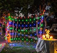 economico -luci nette a led 6m x 4m 672 luci nette a led luci per tende rete da pesca per le vacanze di natale decorazioni per feste luci per esterni con 8 modalità non impermeabili collegabili 220-240v