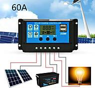 economico -regolatore di carica solare con lcd e regolatore di uscita automatico 60a 12v 24v regolatore di carica solare display lcd dual usb