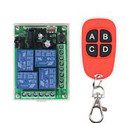 economico -rf wirelss remote control dc 12v 10a 433 mhz 4ch wireless relay rf remote control switch receiver 4 button trasmettitore